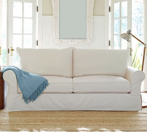 PB fort Roll Arm Slipcovered Sofa