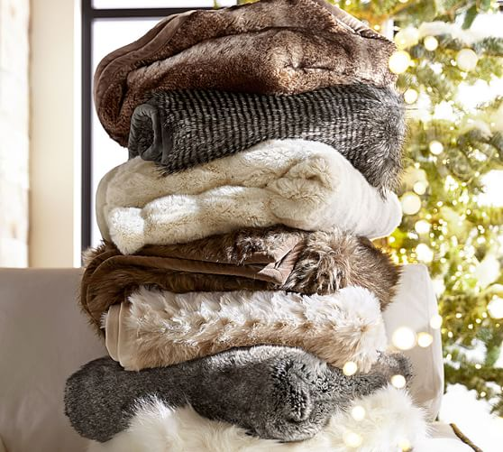 Faux Fur Blankets & Throws Bring softness and warmth to your home decor with Wayfair's faux fur throw blankets. A fur throw will capture the appeal of genuine fur materials, except no animals were harmed in the process. Use a fur throw blanket as you cuddle up with a novel on your couch or bed; or use them simply as decorative accents in your.
