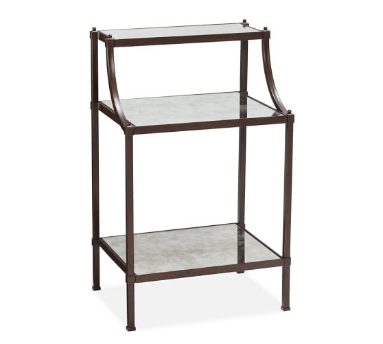 Etagere bedside table pottery barn for Dining room etagere