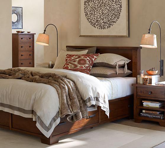 sumatra storage bed pottery barn. Black Bedroom Furniture Sets. Home Design Ideas
