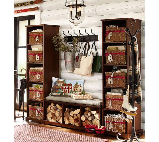 Samantha 3 Piece Bench Bookcase Entryway Set Pottery Barn