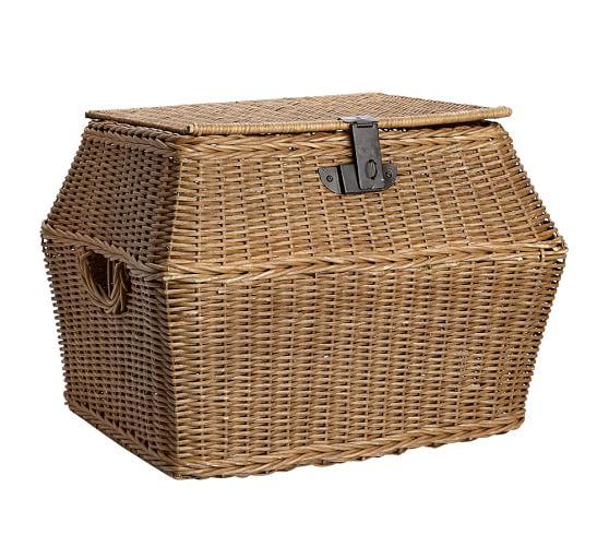 Jacquelyne Angled Lidded Basket