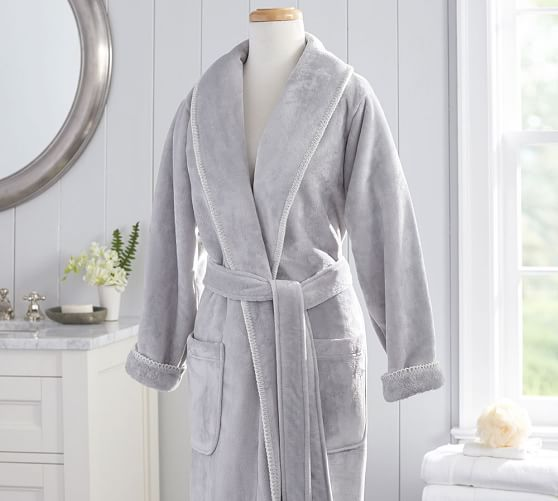 Plush Whipstitch Luxe Robe Pottery Barn
