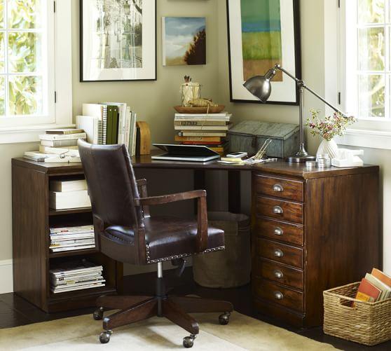 Printer 39 s corner desk set pottery barn for Pottery barn printer s desk reviews