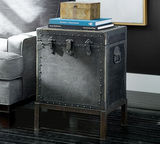 Antique lighting ludlow : Ludlow trunk side table pottery barn