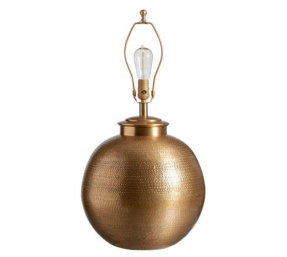 Nori Hammered Table Lamp Base - Brass | Pottery Barn