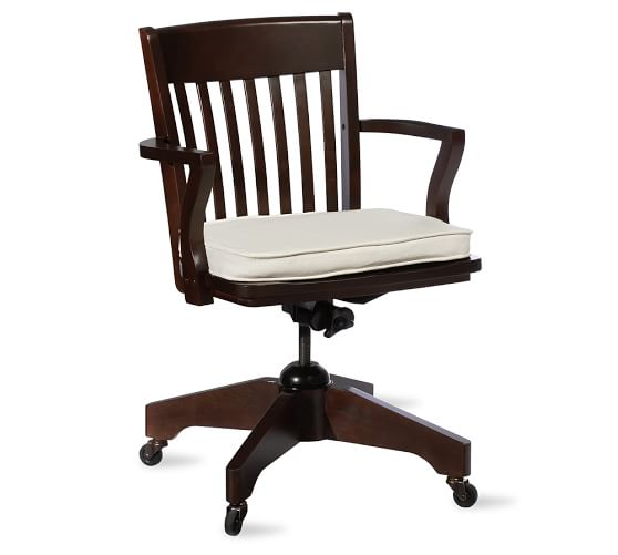 Swivel desk chair pottery barn - Pottery barn schoolhouse chairs ...