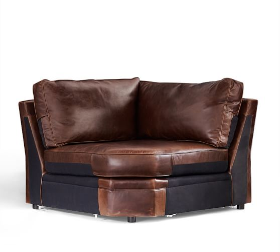 build your own pearce leather sectional components pottery barn. Black Bedroom Furniture Sets. Home Design Ideas