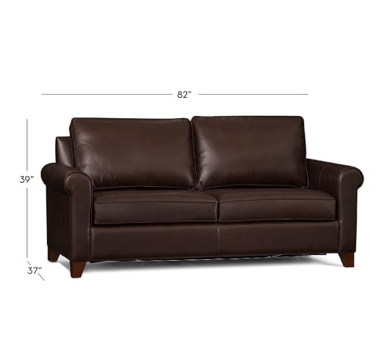 Cameron Roll Arm Leather Sleeper Sofa