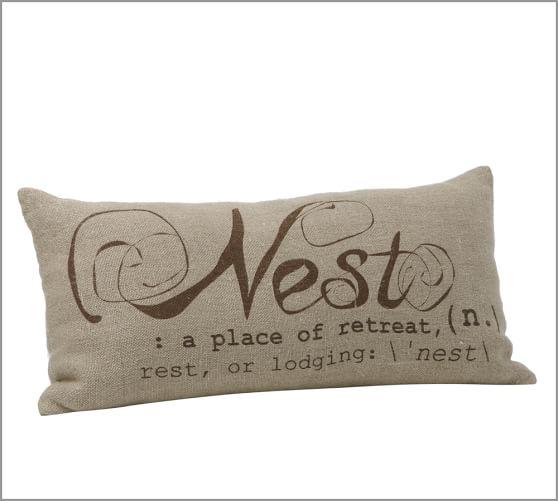 Nest Sentiment Lumbar Pillow