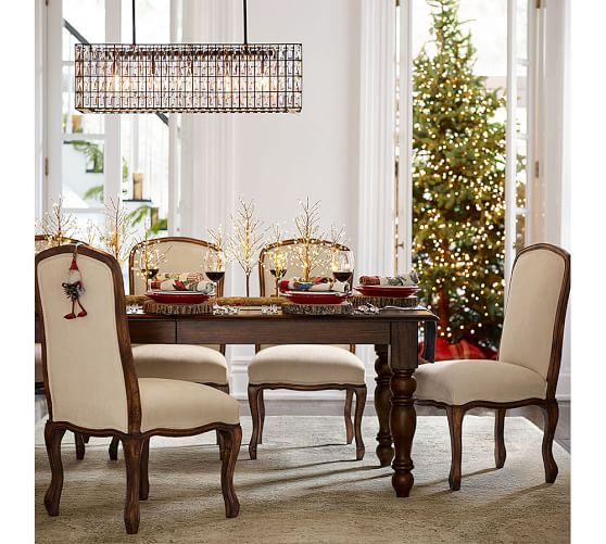 evelyn extending rectangular dining table pottery barn. Black Bedroom Furniture Sets. Home Design Ideas