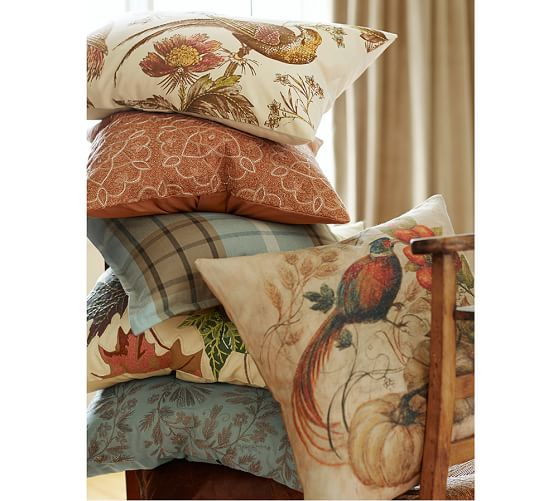 Painted Pheasant Pillow Cover Pottery Barn