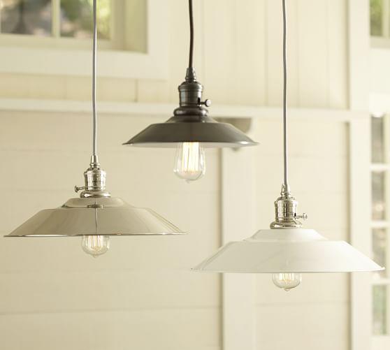 Kitchen Pendant Lighting Pottery Barn: PB Classic Pendant - Metal Flared