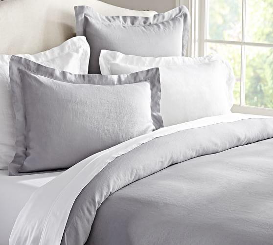 belgian flax linen duvet cover sham pottery barn. Black Bedroom Furniture Sets. Home Design Ideas