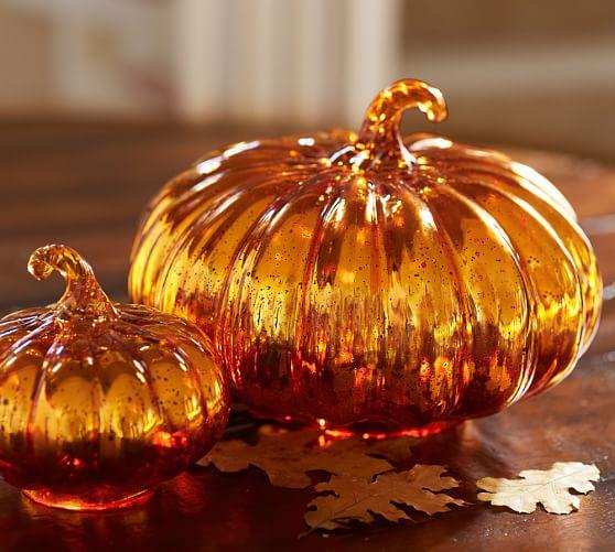 Orange Mercury Glass Pumpkins Pottery Barn