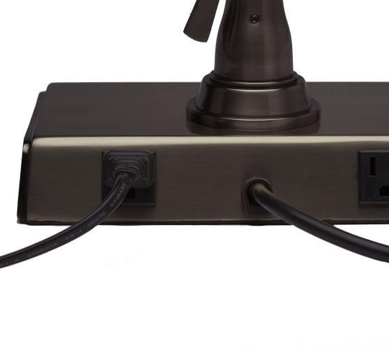 Pottery Barn Bronze Lamp: Architect's Smart Technology™ Task Table Lamp