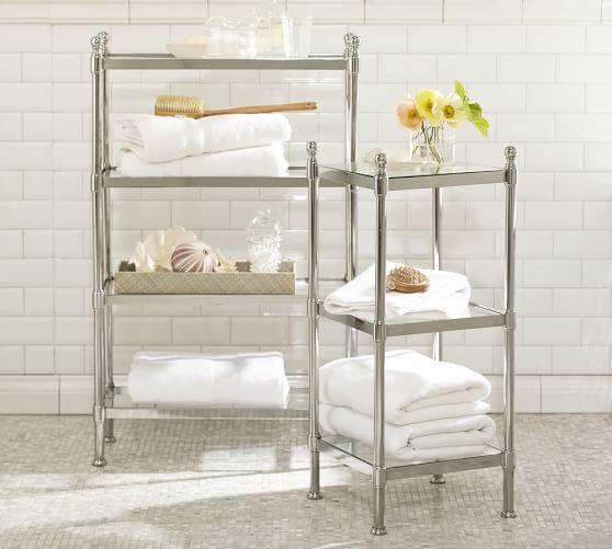 metal etagere pottery barn. Black Bedroom Furniture Sets. Home Design Ideas