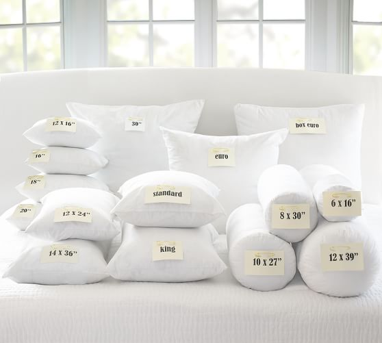 Common Decorative Pillow Sizes : Feather Pillow Insert Pottery Barn