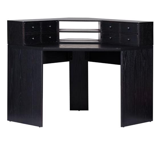 printer 39 s corner desk hutch pottery barn. Black Bedroom Furniture Sets. Home Design Ideas