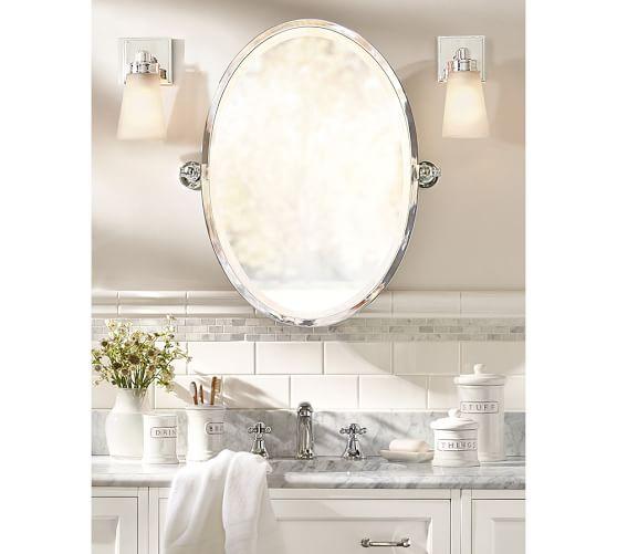 Kensington Pivot Oval Mirror