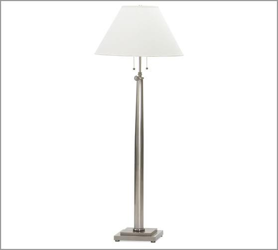 Adjustable Column Floor Lamp Base Pottery Barn