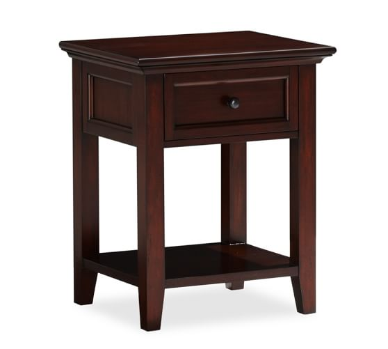 Hudson 1 drawer bedside table pottery barn for Bed and side tables