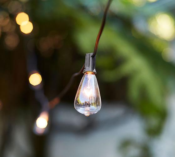 Edison Light Bulb String Lights : Edison Bulb String Lights Pottery Barn