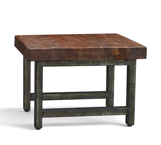 Griffin Reclaimed Wood Coffee Table: Griffin Reclaimed Wood Cube Table