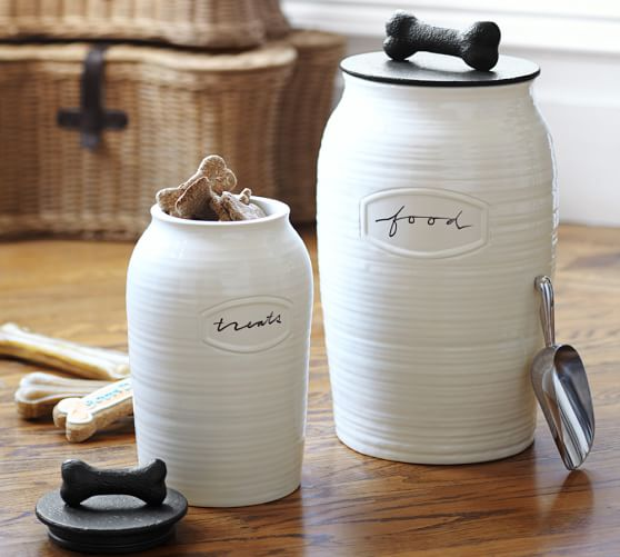 rhodes pet food canister pottery barn