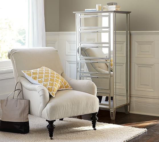 Park Mirrored Tower Dresser Pottery Barn