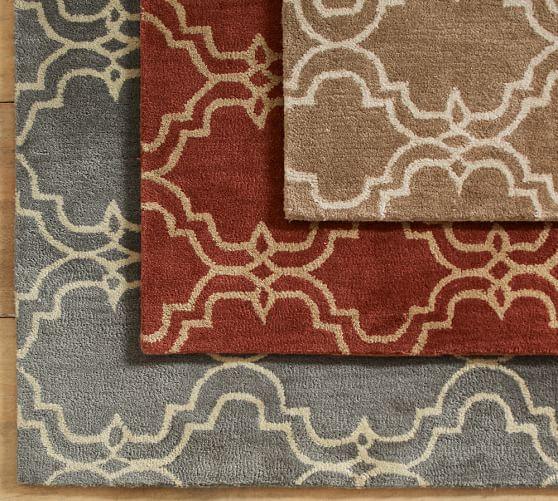 Scroll Tile Rug - Terra Cotta