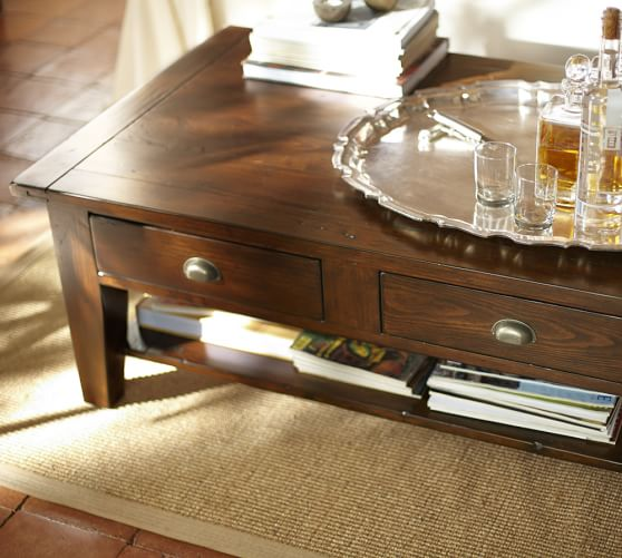 camden reclaimed wood coffee table c Image Result For Pottery Barn Coffee Table
