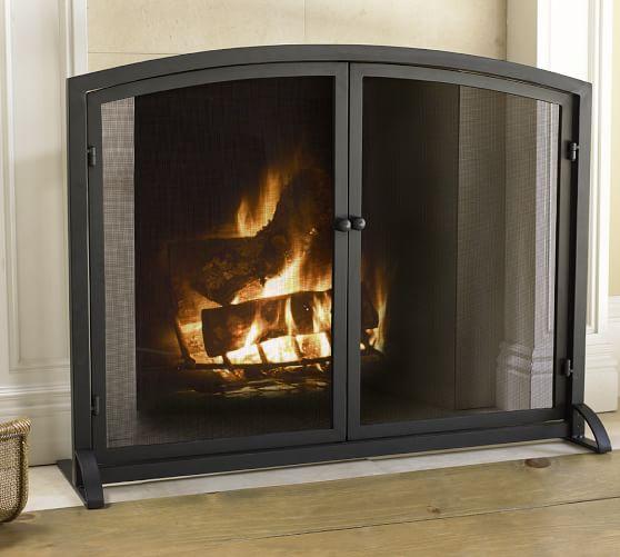 PB Classic Fireplace Single Screen | Pottery Barn