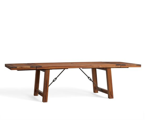 Rectangular Extendable Dining Table: Benchwright Outdoor Rectangular Extending Dining Table