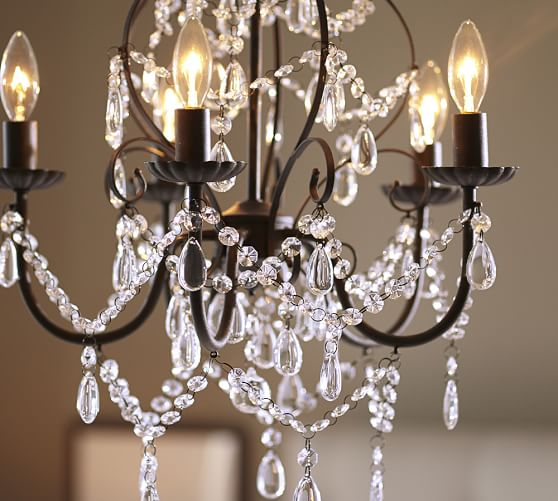 Pottery Barn Small Chandelier: Paige Crystal Chandelier