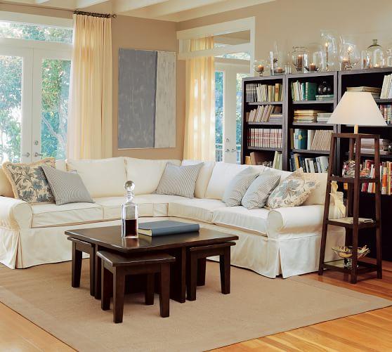 Pb Basic Sofa Slipcover Ebay: PB Basic Slipcovered 2-Piece L-Shaped Sectional