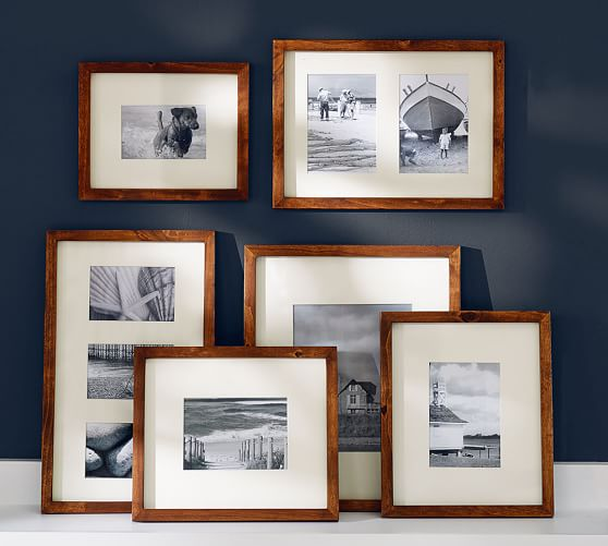 Wood Gallery Frames in a Box - Rustic Wood | Pottery Barn