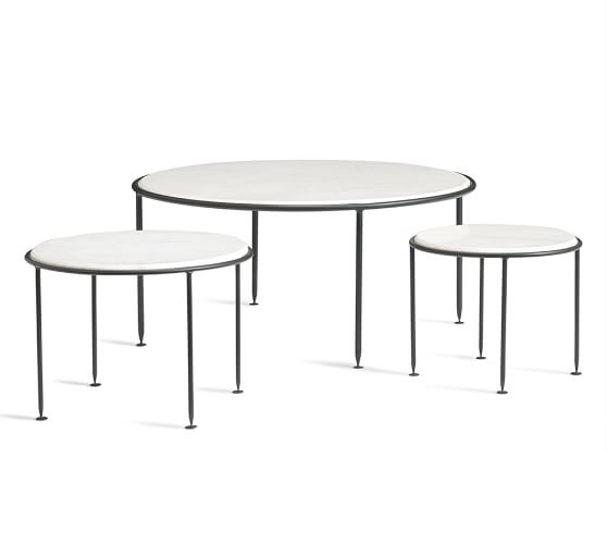 Louise marble top nesting tables set of pottery barn
