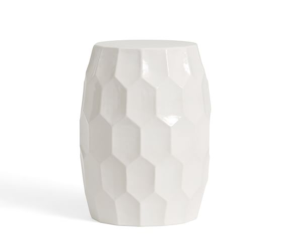 Vince Ceramic Accent Table Pottery Barn