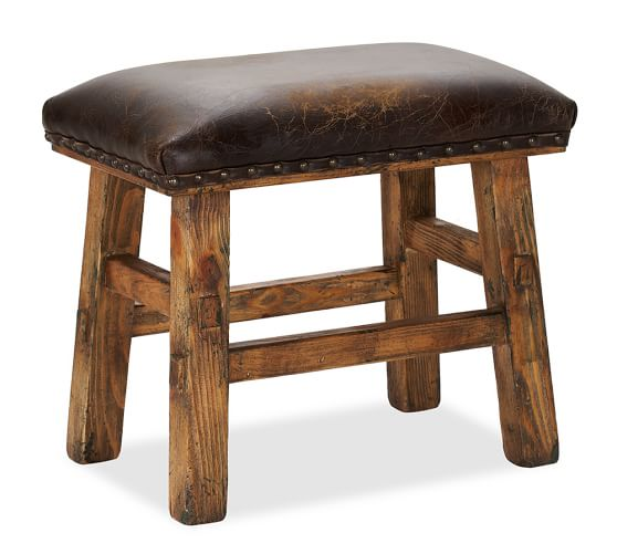 Caden Leather Stool Pottery Barn : caden leather stool c from www.potterybarn.com size 558 x 501 jpeg 30kB