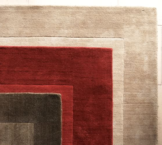 Henley Rug Cranberry Pottery Barn