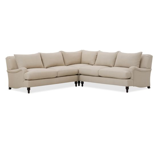 build your own carlisle upholstered sectional components pottery barn. Black Bedroom Furniture Sets. Home Design Ideas