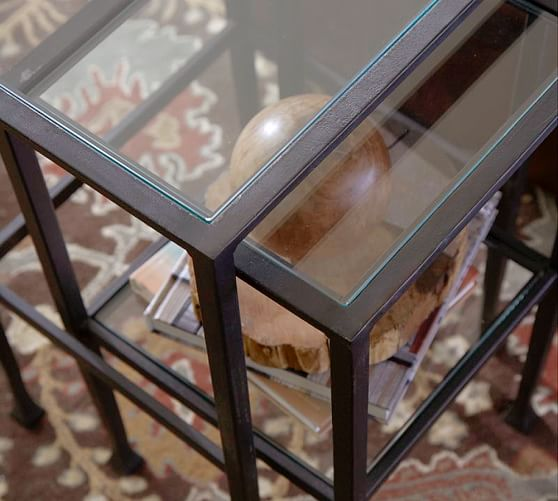 Bronze Nesting Coffee Tables: Tanner Nesting Side Tables - Bronze Finish