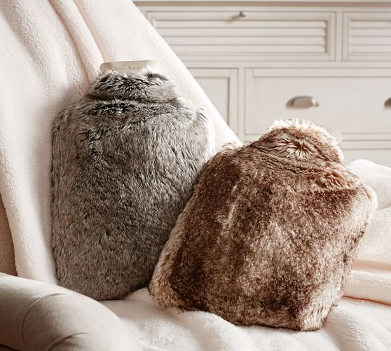 Faux Fur Hot Water Bottle Cover Pottery Barn