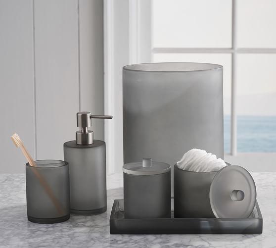 Serra Mix and Match Bath Accessories - Gray | Pottery Barn