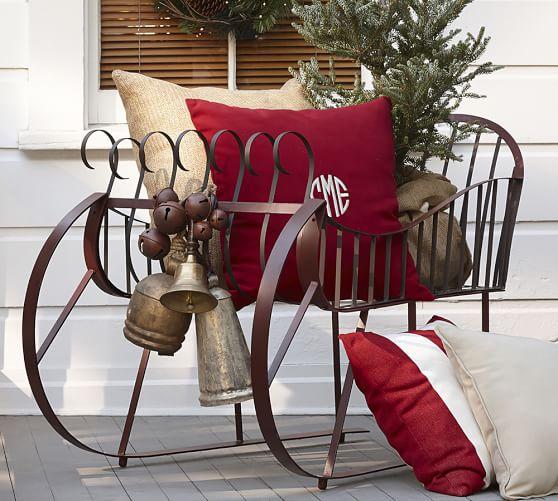 Set Of 3 Metal Christmas Carolers Outdoor Yard Display: Vintage Rustic Bells Vase Filler