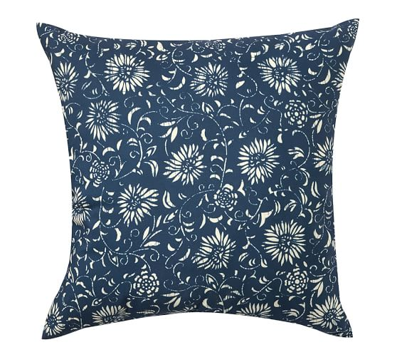 Floral Outdoor Pillows Pottery Barn: Amadea Floral Indoor/Outdoor Pillow
