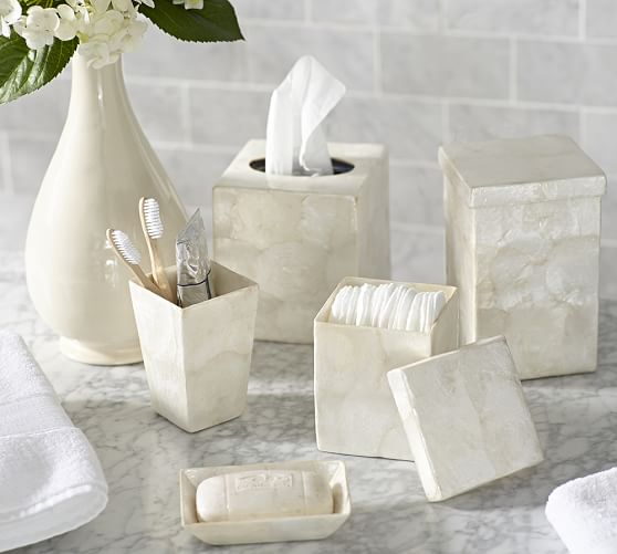 Capiz Bath Accessories Pottery Barn