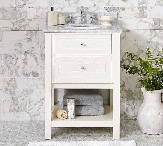 White Barn Sink : Classic Single Sink Mini Console - White Pottery Barn