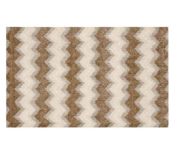 Rexford Printed Handwoven Zig Zag Rug | Pottery Barn